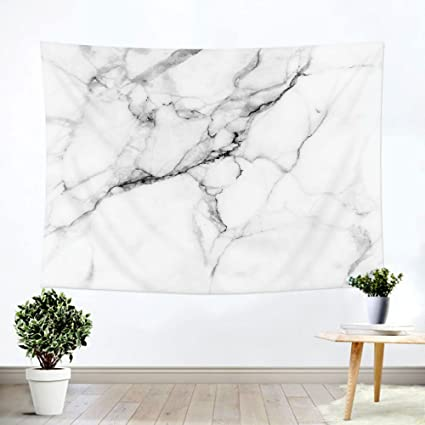 ILeadon Tapestry White Marble Wall Hanging U2013 Polyester Fabric Wall Decor  For Bedroom (60u201d