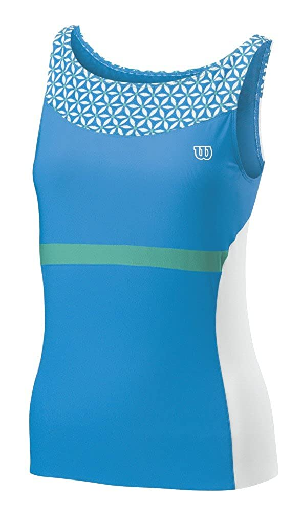 Wilson - Camiseta de pádel para Mujer, tamaño L, Color Cyan ...