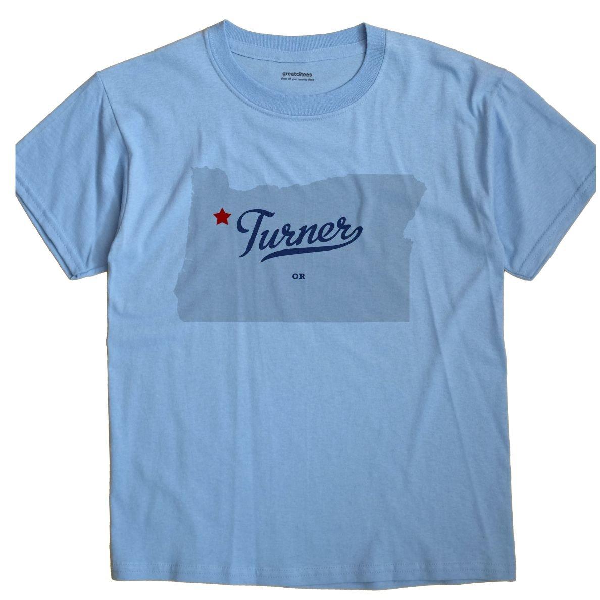 Amazon Com Greatcitees Turner Oregon Map Unisex Souvenir T Shirt