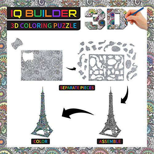 GIRLS AND BOYS AGE 8 9 10 11 12 YEAR OLD EDUCATIONAL ART BUILDING PAINTING COLORING 3D PUZZLE PROJECT SET FOR KIDS ADULTS New Fast Shipping No Tax