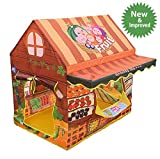 Kids Pretend Play Grocery Store - Outdoor + Indoor - Children Playhouse + Fruit Lemonade Stand Shop + Play Tents +Playroom Furniture/ Room Decorations- Best Birthday Gifts for Girls/ Boys/ Toddlers
