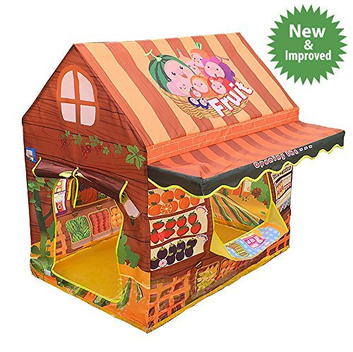 Kids Pretend Play Grocery Store - Outdoor + Indoor - Children Playhouse + Fruit Lemonade Stand Shop + Play Tents +Playroom Furniture/ Room Decorations- Best Birthday Gifts for Girls/ Boys/ Toddlers (Kids Room Ideas)