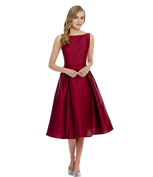 S R Fashion Girls dress Maroon Knee length Tapeta Silk Dress For ...