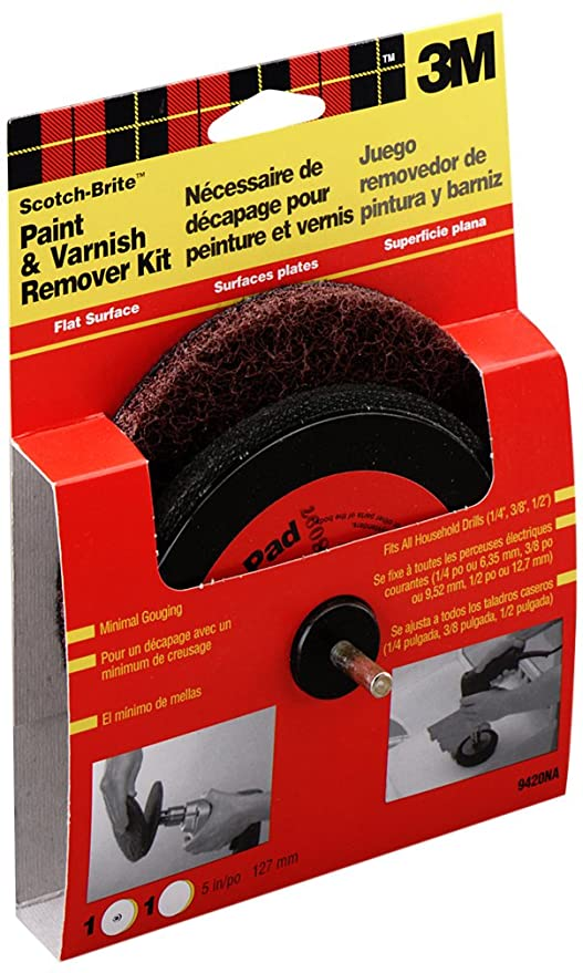 3M Scotch-Brite Flat Surface Paint and Rust Stripper Kit (9419NA) - Hook And Loop Discs - Amazon.com