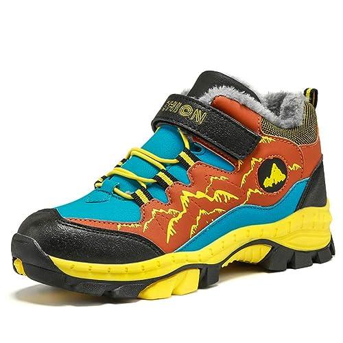 Stivali da Neve Ragazzo Scarpe da Escursionismo Bambini Inverno Pelliccia  Scarponi Trekking Montagna Sneaker Arrampicata Nero 17b27ba38ab