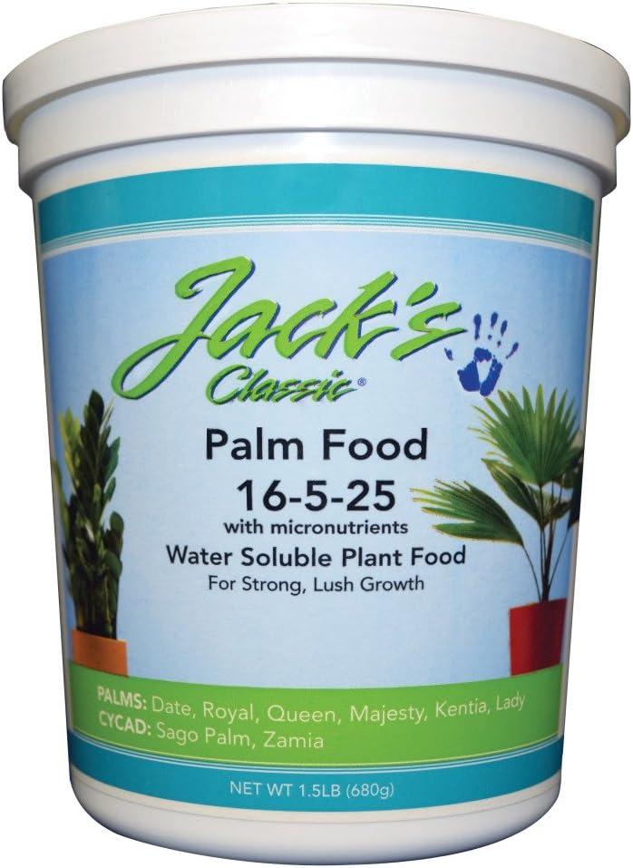 JR Peters 51624 Jack's Classic 16-5-25 Palm Food, 1.5 lb.