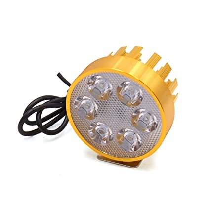 sourcing map DC 12V-85V 6 LED Blanco Lámpara Proyector Faro ...
