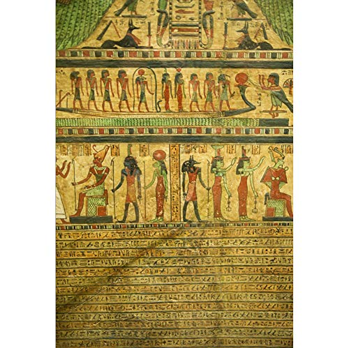 (Yeele 3x5ft Egyptian Hieroglyphs Backdrop for Photography Ancient Egypt Papyrus Carving Mural Background Antique Mythology Mystery Sculpture Photo Booth Shoot Studio Props)