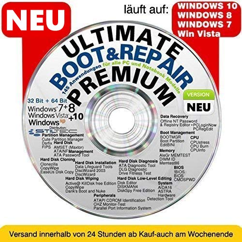 Ultimate Boot   Repair PREMIUM Ultimate Boot-CD   Notfall-CD für Windows  Betriebssysteme 50c6e635b0