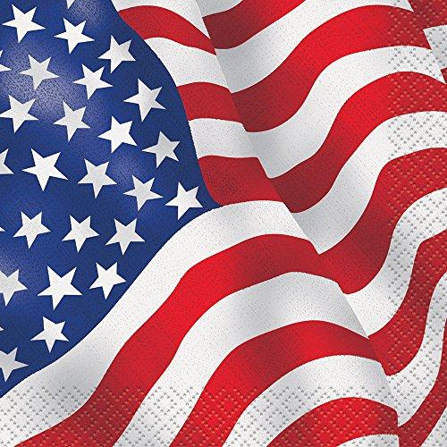American Flag Beverage Napkins 16ct