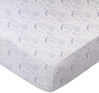 product image for SheetWorld Fitted 100% Cotton Percale Bassinet Sheet 15 x 33, Dream Big Gray, Made in USA
