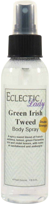Green Irish Tweed Body Spray (Double Strength), 4 ounces