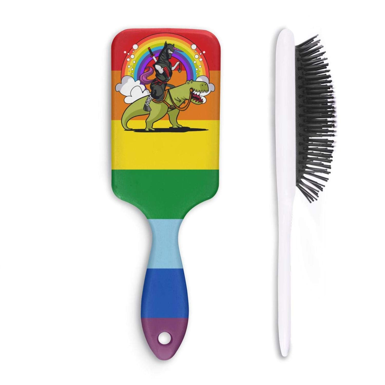 Amazon.com : Unisex Detangle Hair Brush Ninja Unicorn ...