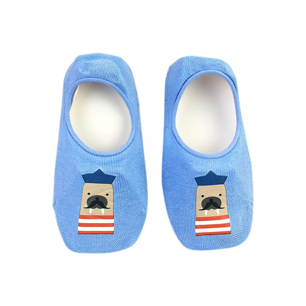 Stick Figure Series Children Cartoon Print Cute Anti-Skid Floor 7 Pairs of Baby Bow Cotton Breathable Casual Socks
