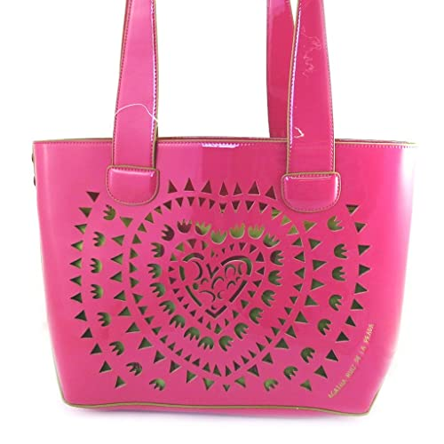 efb371e6394 Bolsa  french touch   Agatha Ruiz De La Prada rosa verde.  Amazon.es ...