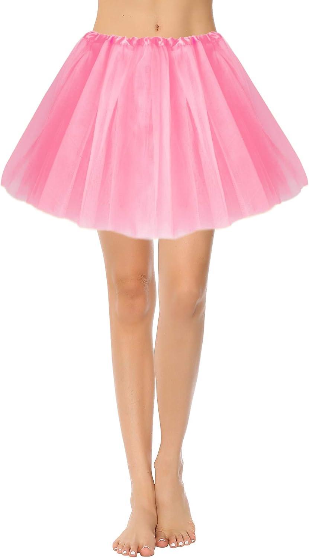iClosam Tutu Falda de Mujer Adultos 3 Capas Falda Ballet Carnaval ...