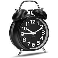 Navaris Despertador Retro de Metal - Reloj Despertador