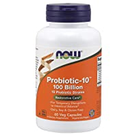 NOW Supplements, Probiotic-10 100 Billion with 10 Probiotic Strains, 60 Veg Capsules