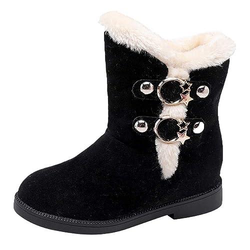 Botas de Nieve,BBestseller Zapatos Invierno Mujer Cuña de Gamuza Redonda Martain Boot Calzado Casual Zapatillas Deportes Sneakers: Amazon.es: Zapatos y ...