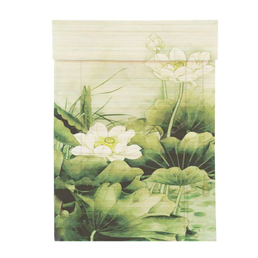 ブラインド 居間およびオフィスのための竹のローラーのブラインド、装飾を断ち切り、軽いろ過はバランスのブラインドを転がします (色 : LLA-3, サイズ さいず : 140×135 cm (55.1