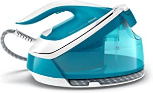 Philips PerfectCare Compact Plus Steam Generator Iron with 1.5L Detachable Water Tank, OptimalTEMP Technology, up to 430g Steam Boost, Blue, GC7920/20