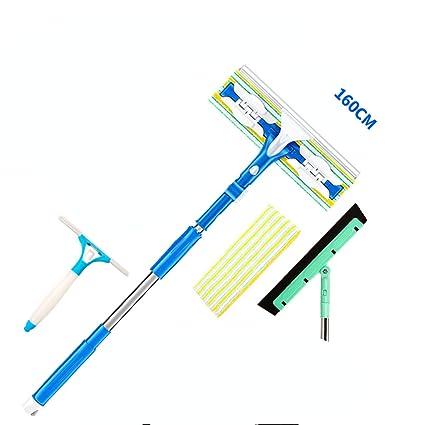 Limpiador extensible del enjugador de la ventana de la esponja de la microfibra, limpiaparabrisas telescópico