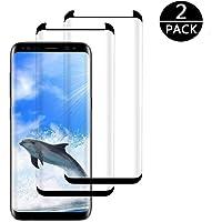 [2-Pack] Samsung Galaxy S8 Screen Protector, MOCACA S8 Tempered Glass Screen Protector for Samsung Galaxy S8 - Black