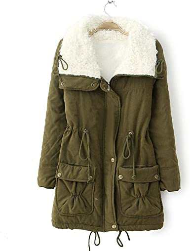 Winter Coat Women,Kulywon Women Warm Long Coat Fur Turn-down Collar Jacket Slim Winter Parka Outwear Coats
