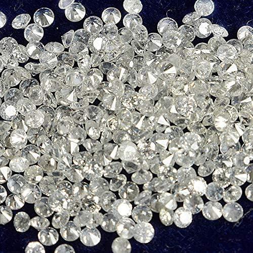Gemhub CVD Loose Diamond 1.30 mm to 1.35 mm TCW 0.50,G-H,VS-SI Clarity 49 Pc.Diamonds