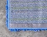 Unique Loom Solo Solid Shag Collection Modern Plush Periwinkle Blue Area Rug