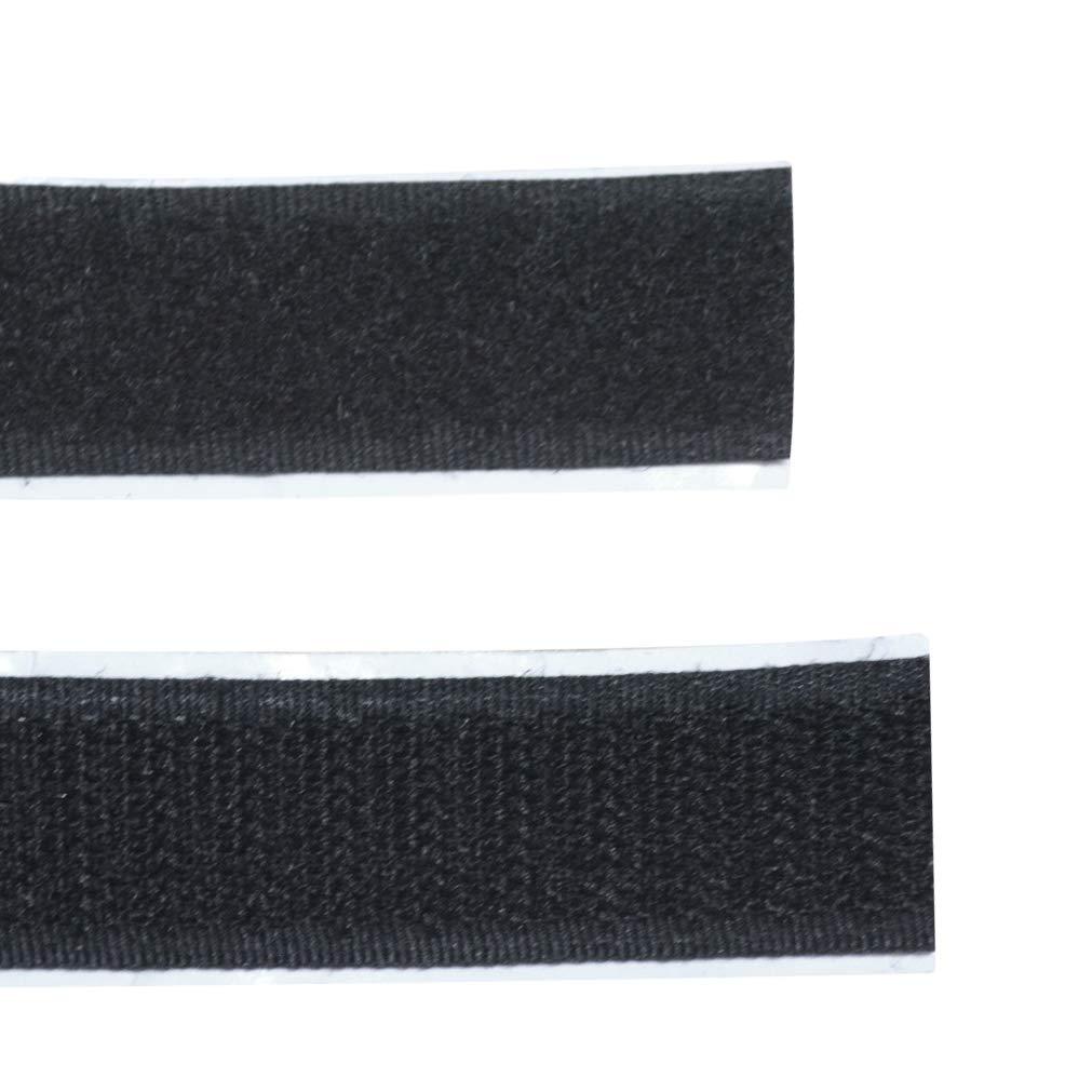 Jmkcoz Velcro Autoadesivo Extra Forte Doppio Lato Adesivo Nero con Chiusura in Velcro 10 m Lunghezza 20 mm Larghezza Autoadesivo Nastro e Gancio Nastro
