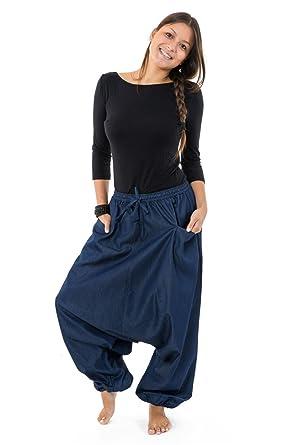 FANTAZIA Pantalon Sarouel Jean Denim Street Baba -  Amazon.fr  Vêtements et  accessoires 392aae9517b