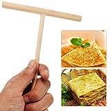 GerTong 1PCS Home Wooden Crepe Maker Wooden Rack