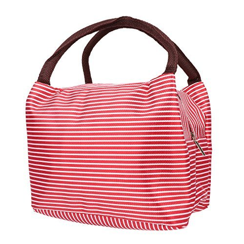 Portable Lunch Bag,Insulation Cooler Storage Container Picnic Tote (Red) (Tote Scrub)
