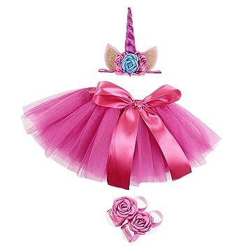 FENICAL Fancy Baby Girl recién Nacido Unicorn Tutu Vestido con ...