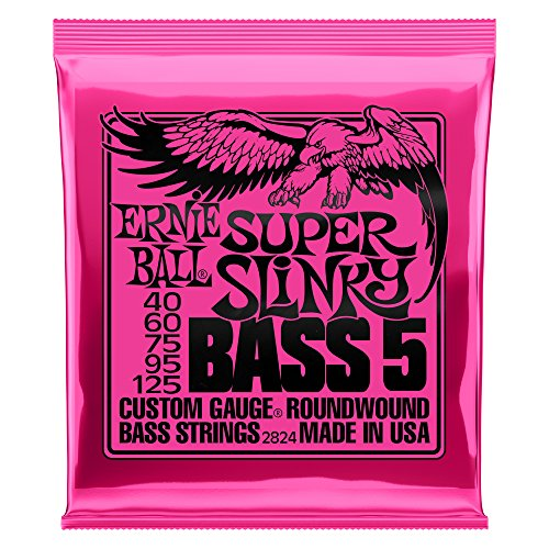 (Ernie Ball 5-String Super Slinky Nickel Wound Bass Set, .040 -)