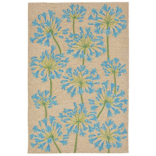 Liora Manne RVL46227303 2273/03 Desert Lily Bluebell Rugs, Indoor/Outdoor, 42''X66'', Blue by Liora Manne