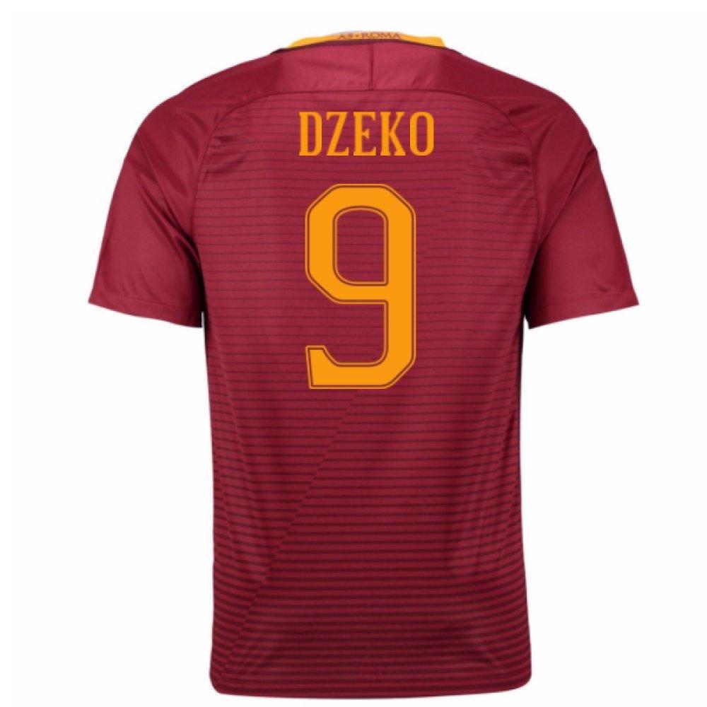 2016-17 Roma Home Shirt (Dzeko 9) B01MA39280