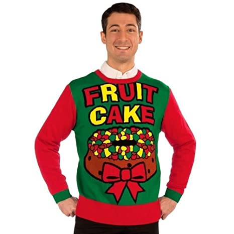 Fruit Cake Bow Knitted Ugly Sweater Adult Red Green Christmas Holiday Parties