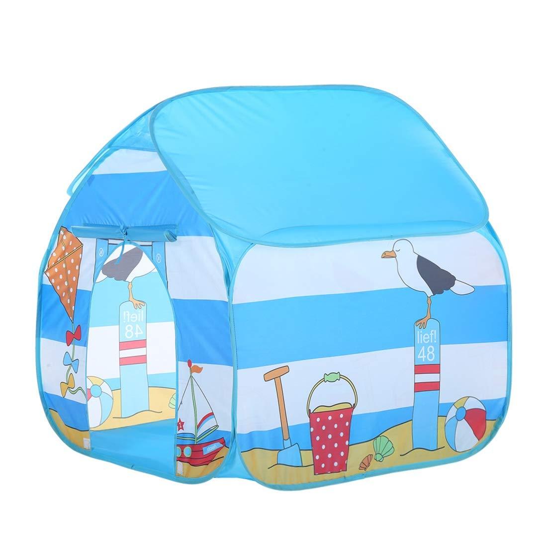 Olprkgdg Drachen-Muster-Blau scherzt Zelte Indoor-Kinderspielzelt Spielplatz im Freien (Farbe : Blau)