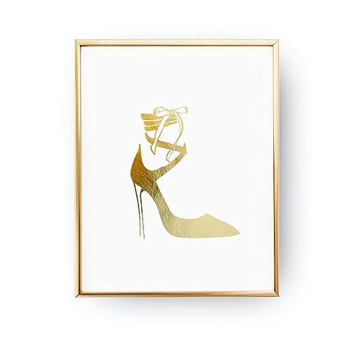 c2c67ef543037 Amazon.com: Heel Black Print, Fashion Poster, Wardrobe Art, Woman ...