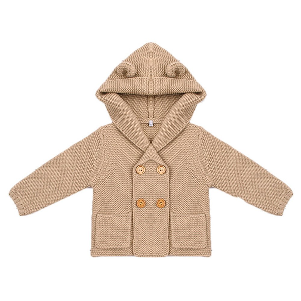 Baby Coat, amazingdeal Boy Knitting Cardigan Winter Solid Long Sleeve Hooded Sweaters