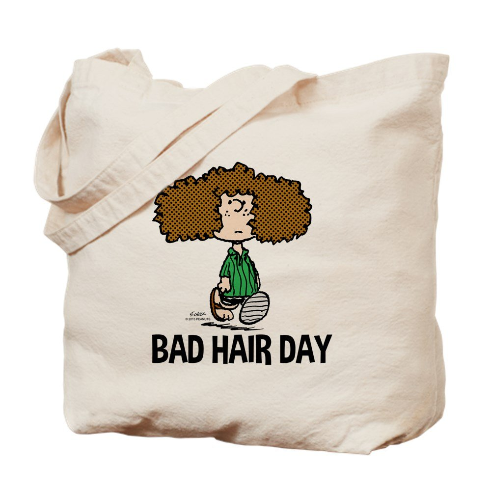 CafePress – Peppermint Patty Bad Hair Day – ナチュラルキャンバストートバッグ、布ショッピングバッグ B015QE5FRM