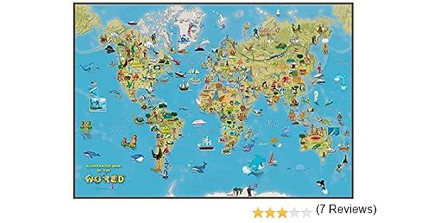 Maps International Niños Mapa de la Historieta del Mundo: Amazon ...