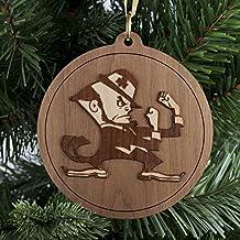 Wooden Christmas Ornament, Christmas Tree Decoration, Sports Ornament, Notre Dame Leprechaun Ornament
