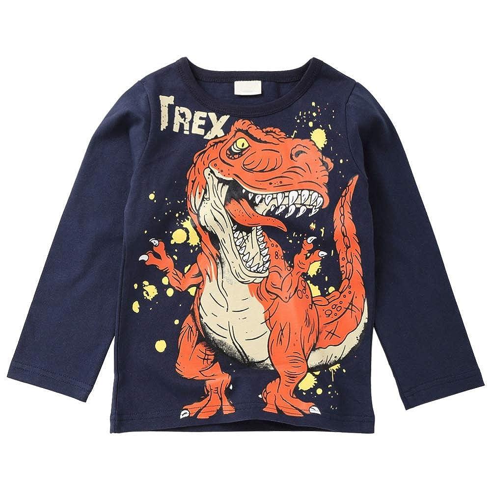 URMAGIC T-Shirt Manche Longue B/éb/é Gar/çon Enfants Dinosaure Pull Sweat-Shirt Tops 0-8Ans