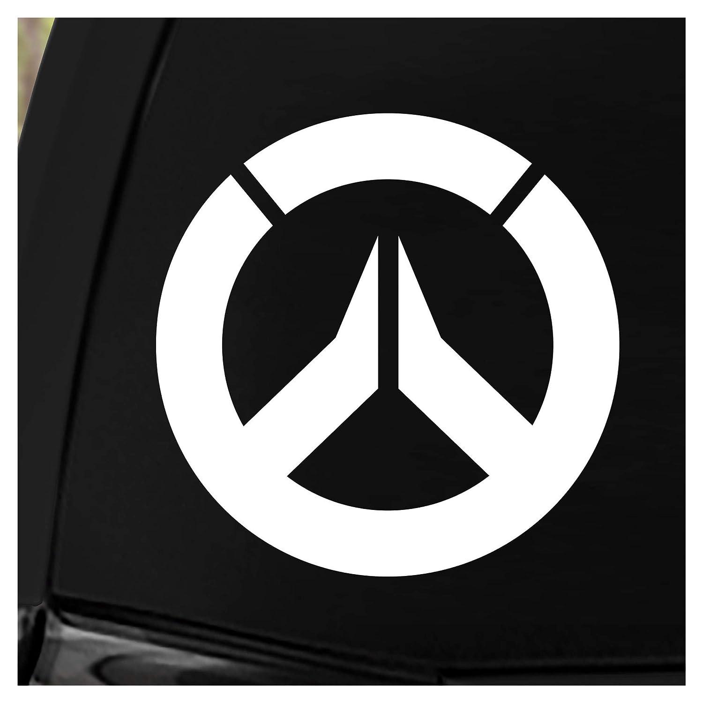 Amazon com jinx overwatch logo car window die cut vinyl decal sticker white 5 75 automotive