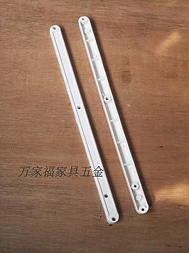 2 guías deslizantes de plástico para cajones, 295 mm, riel de ...