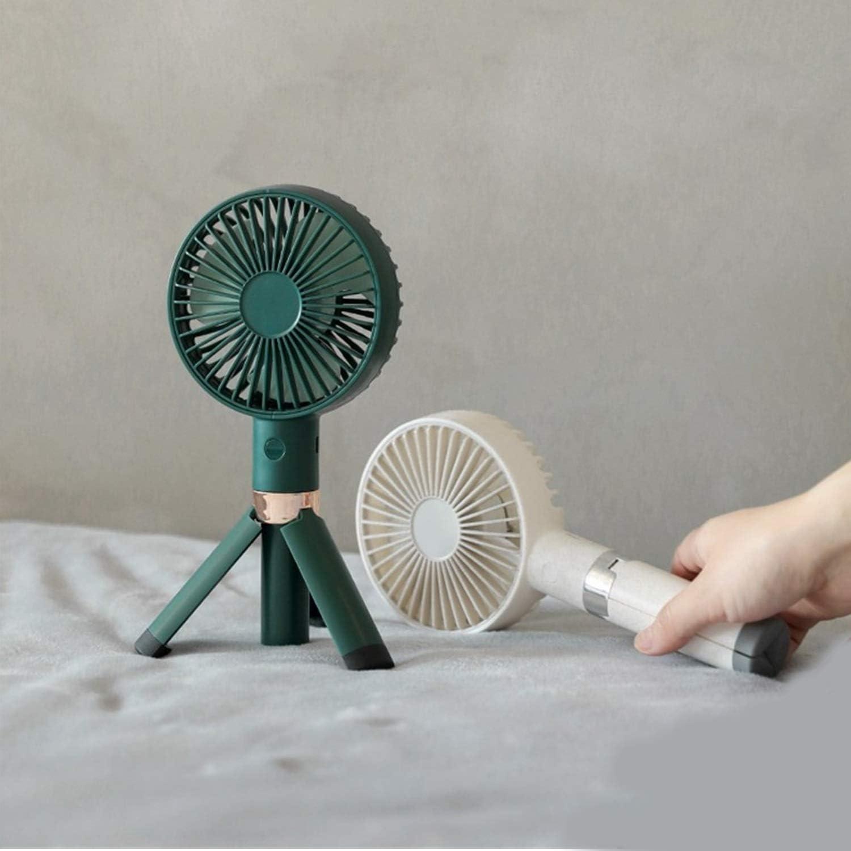 Color : White, Size : One Size Mini Portable Cooling Fan Handheld Electric Fan Mini USB Charging Portable Fan Desktop Small Fan Triangle Bracket Summer