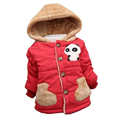 Foutou Baby Toddler Boys Girls Autumn Winter Hooded Coat Cloak Thick Warm Outerwear Suit
